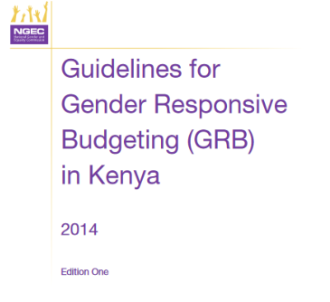 Gender Reponsive Budgeting in Kenya