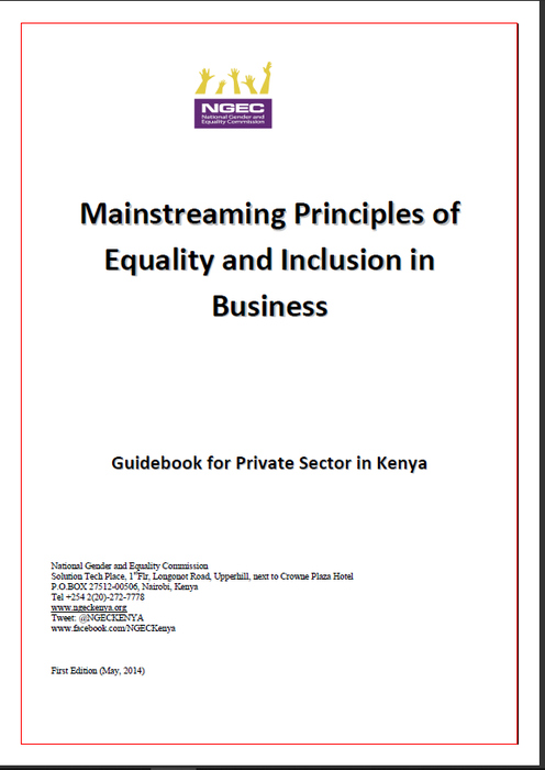 Mainstreaming Principles of Equality and Inclusion in Business