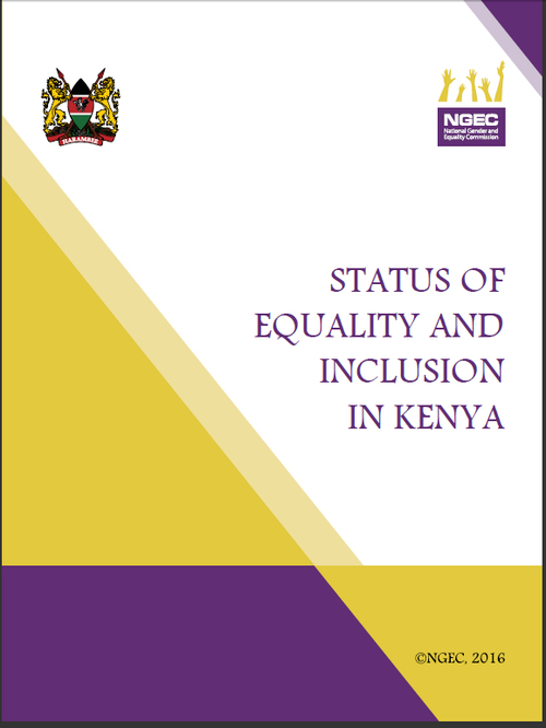 Status of Equality and Inclusion in Kenya