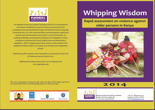 Whipping Wisdom : Rapid Assessment on Violence against older persons in Kenya