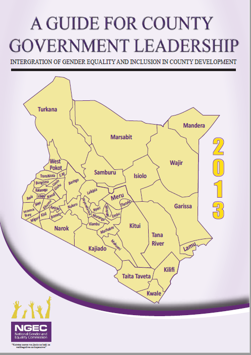 A guide for County Government Leadership : Integration of Gender Equality and Inclusion